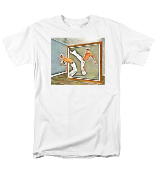 Men's T-Shirt  (Regular Fit) featuring the painting Night At The Art Gallery - Martial Artists by Wayne Pascall