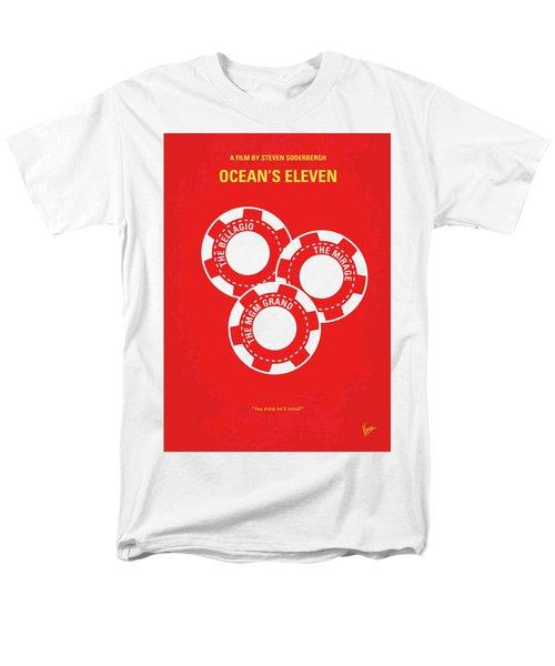 No056 My Oceans 11 Minimal Movie Poster Men's T-Shirt  (Regular Fit)