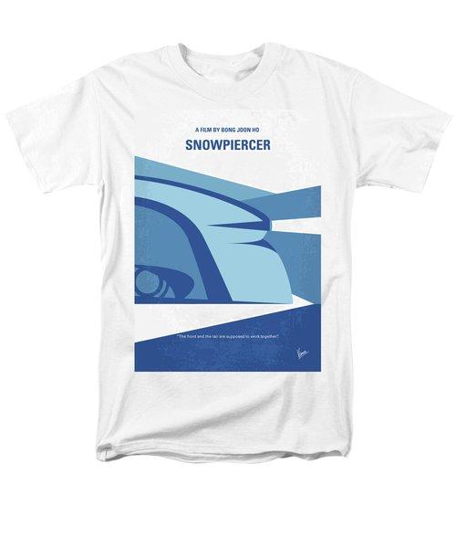 Men's T-Shirt  (Regular Fit) featuring the digital art No767 My Snowpiercer Minimal Movie Poster by Chungkong Art