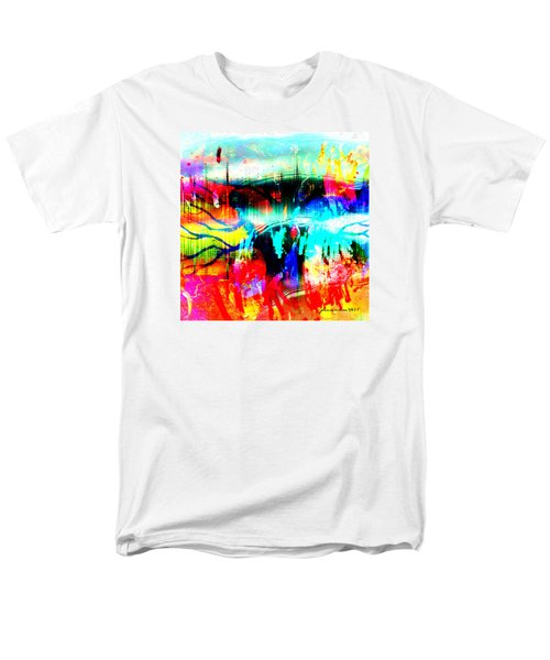 Men's T-Shirt  (Regular Fit) featuring the mixed media Noel Tree by Fania Simon