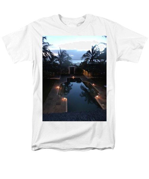 North - Eastern African Home - Sundown Over The Swimming Pool Men's T-Shirt  (Regular Fit) by Exploramum Exploramum