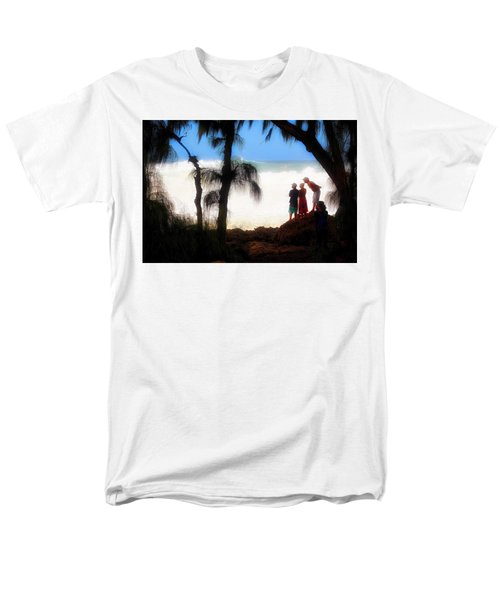 Men's T-Shirt  (Regular Fit) featuring the photograph North Shore Wave Spotting by Jim Albritton