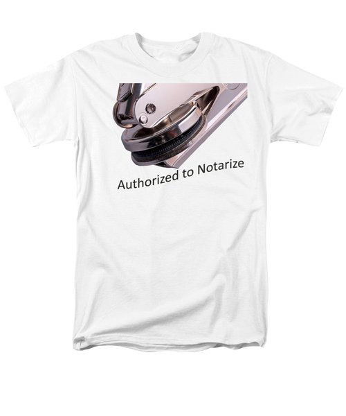Notary Public Slogan Men's T-Shirt  (Regular Fit) by Phil Cardamone