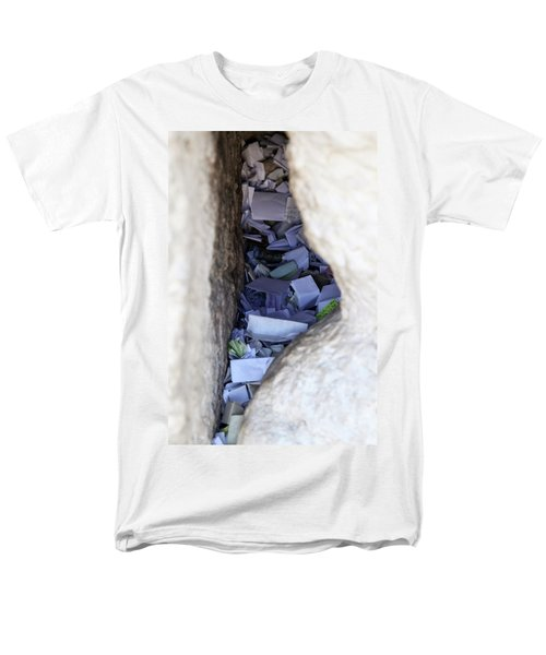 Notes In The Wailing Wall  Men's T-Shirt  (Regular Fit) by Yoel Koskas
