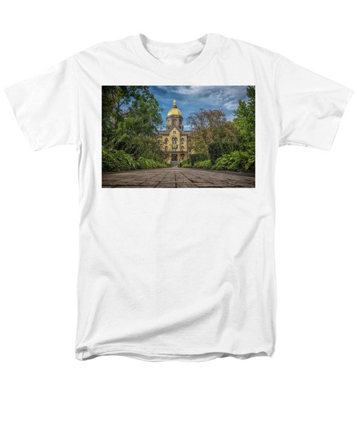 Notre Dame University Q1 Men's T-Shirt  (Regular Fit) by David Haskett