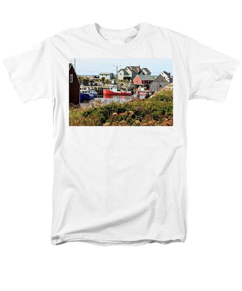 Nova Scotia Fishing Community Men's T-Shirt  (Regular Fit) by Jerry Battle