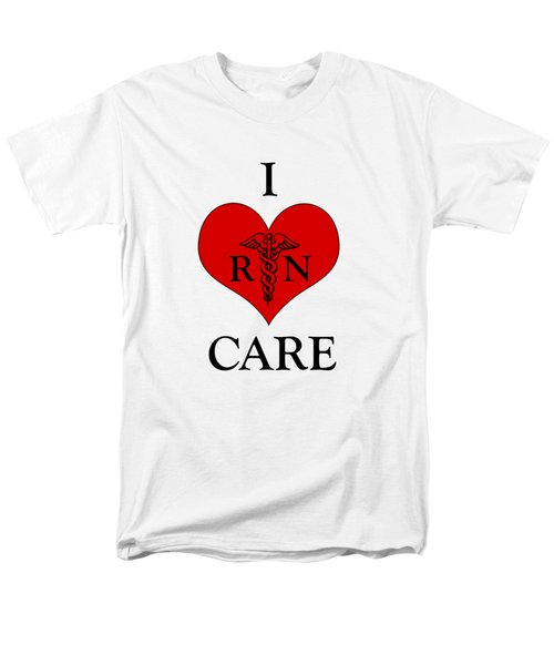 Nursing I Care -  Red Men's T-Shirt  (Regular Fit) by Mark Kiver