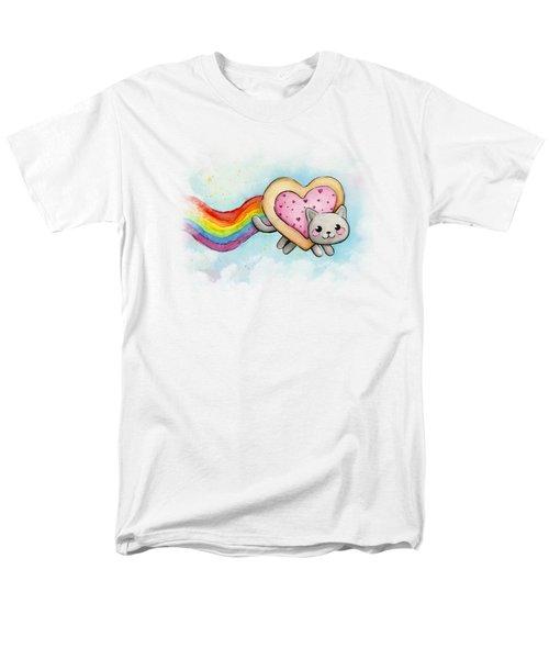 Nyan Cat Valentine Heart Men's T-Shirt  (Regular Fit)