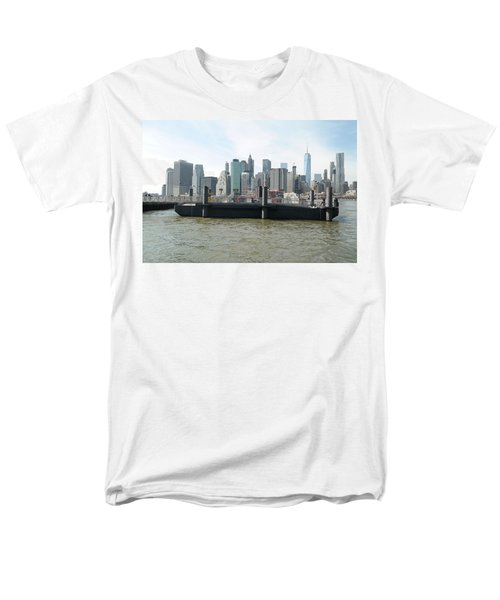 Nyc Skyline Men's T-Shirt  (Regular Fit) by Michael Paszek