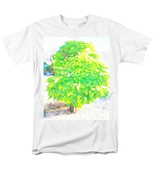 Men's T-Shirt  (Regular Fit) featuring the photograph Obese American Tree by Lenore Senior