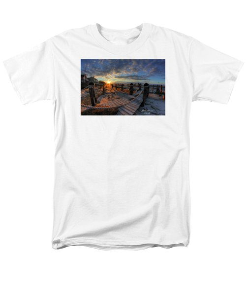 Oc Bay Sunset Men's T-Shirt  (Regular Fit) by John Loreaux