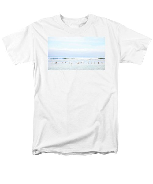 Men's T-Shirt  (Regular Fit) featuring the photograph Ocean View With Seagulls by Theresa Tahara
