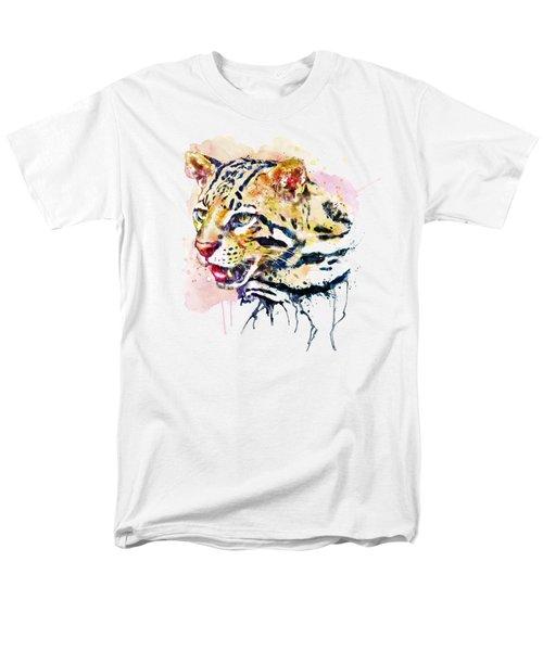 Ocelot Head Men's T-Shirt  (Regular Fit) by Marian Voicu