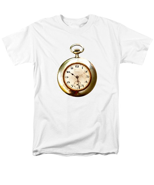 Old And Used Pocket Clock Om White Background Men's T-Shirt  (Regular Fit) by Michal Boubin