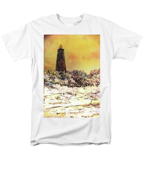 Old Baldy Lighthouse- North Carolina Men's T-Shirt  (Regular Fit) by Ryan Fox