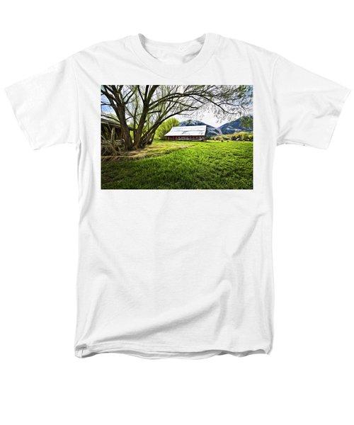 Old Barn In Eden Utah Men's T-Shirt  (Regular Fit) by James Steele