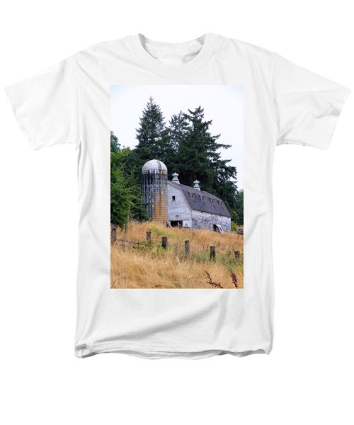 Old Barn In Field Men's T-Shirt  (Regular Fit) by Athena Mckinzie