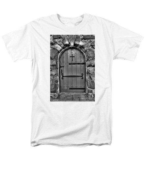 Men's T-Shirt  (Regular Fit) featuring the photograph Old Church Door by Alana Ranney