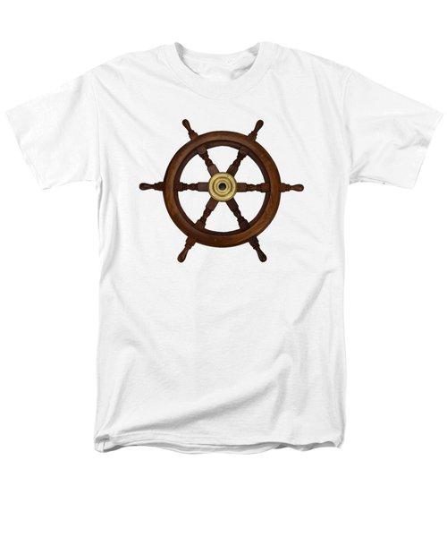 Old Oak Steering Wheel For Boats And Ships Men's T-Shirt  (Regular Fit) by Tom Conway