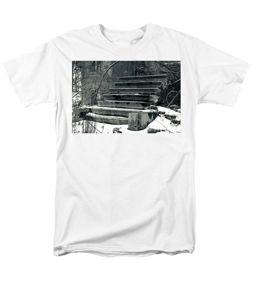Old Stairs To Nowhere Men's T-Shirt  (Regular Fit) by Jeff Severson
