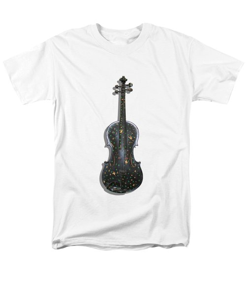 Old Violin With Painted Symbols Men's T-Shirt  (Regular Fit) by Tom Conway