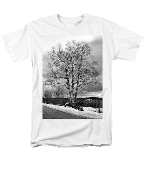 Old White Birch Men's T-Shirt  (Regular Fit) by Betty Pauwels