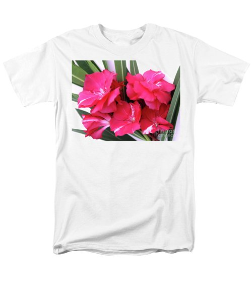 Men's T-Shirt  (Regular Fit) featuring the photograph Oleander Geant Des Batailles 1 by Wilhelm Hufnagl