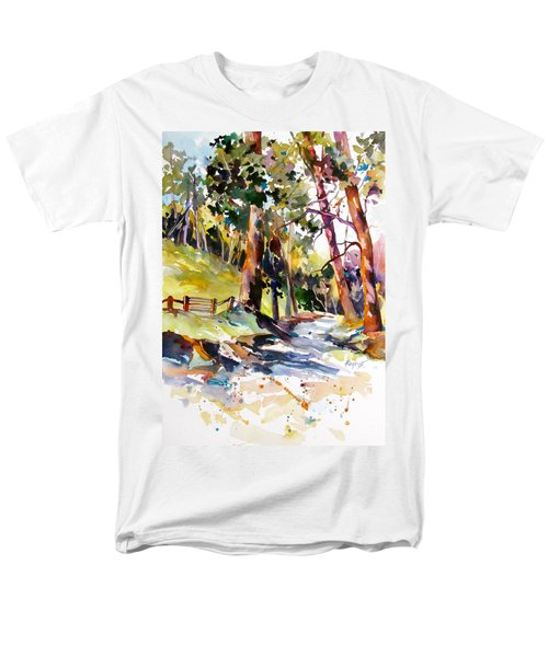 Men's T-Shirt  (Regular Fit) featuring the painting Olinda Trees Maui 2 by Rae Andrews