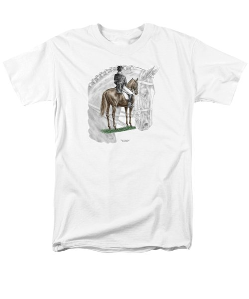 On Centerline - Dressage Horse Print Color Tinted Men's T-Shirt  (Regular Fit) by Kelli Swan