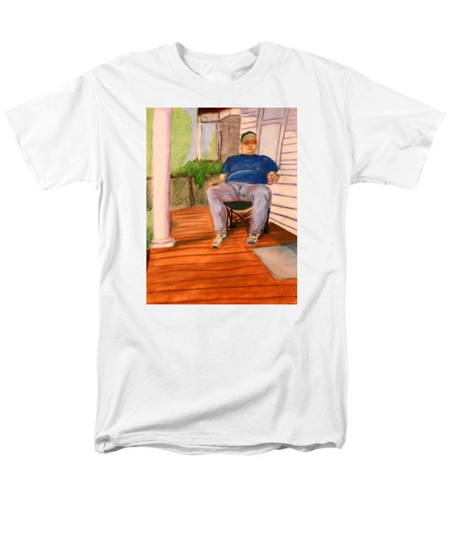 On The Porch With Uncle Pervy Men's T-Shirt  (Regular Fit) by Jean Haynes