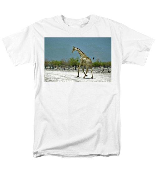 Men's T-Shirt  (Regular Fit) featuring the digital art On The Run Again by Ernie Echols