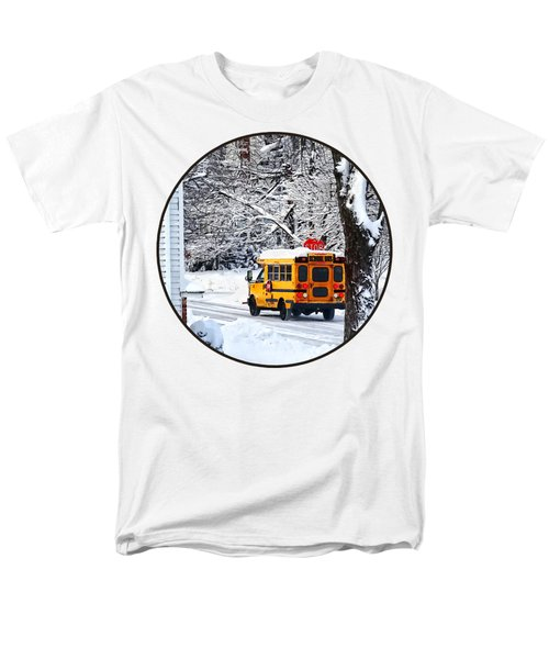 On The Way To School In Winter Men's T-Shirt  (Regular Fit) by Susan Savad