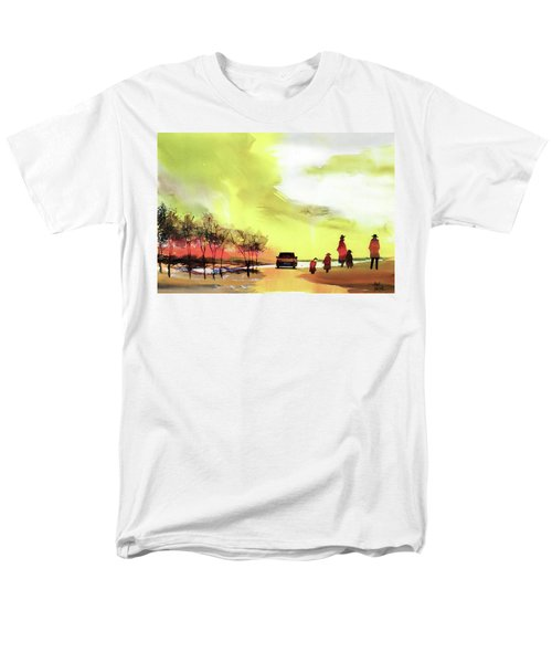 Men's T-Shirt  (Regular Fit) featuring the painting On Vacation by Anil Nene