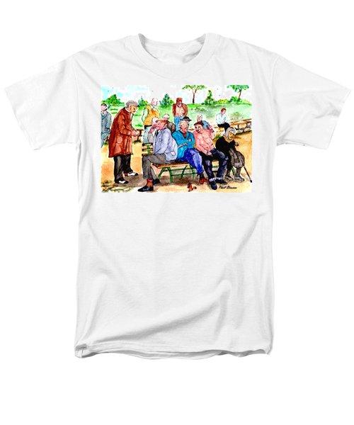Once Upon A Park Bench Men's T-Shirt  (Regular Fit)