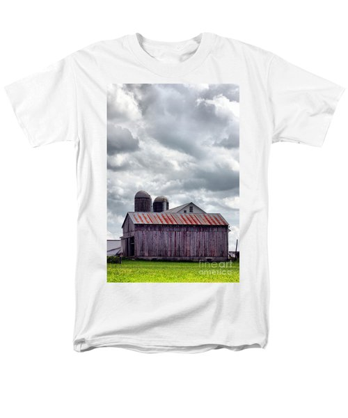 Men's T-Shirt  (Regular Fit) featuring the photograph One Fine Cloudy Day  by Polly Peacock