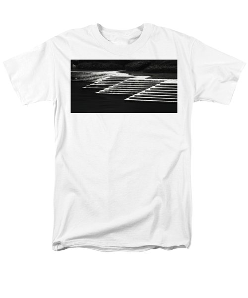 Men's T-Shirt  (Regular Fit) featuring the photograph One Step At A Time by Eduard Moldoveanu