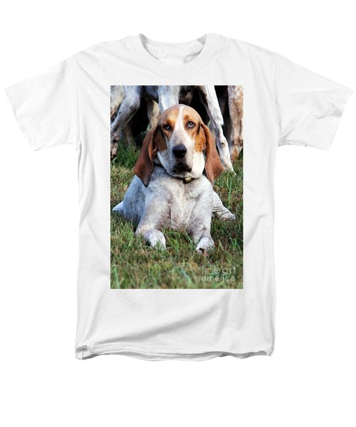 Men's T-Shirt  (Regular Fit) featuring the photograph One Tired Hound by Polly Peacock