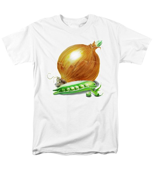Onion And Peas Men's T-Shirt  (Regular Fit) by Irina Sztukowski