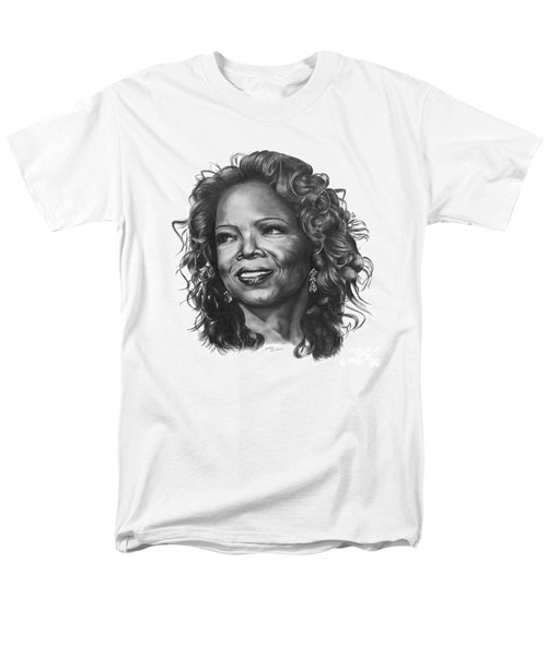 Men's T-Shirt  (Regular Fit) featuring the drawing Oprah by Marianne NANA Betts