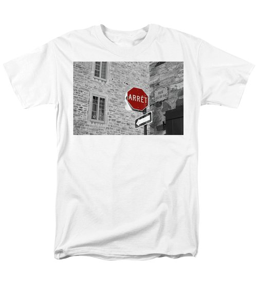 Optical Illusion, Quebec City Men's T-Shirt  (Regular Fit) by Brooke T Ryan