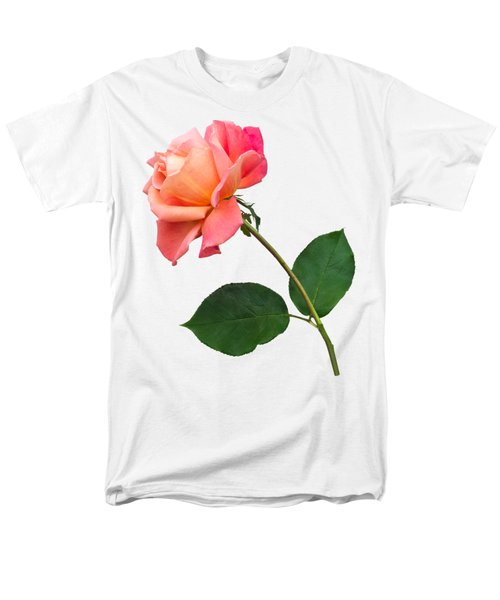 Men's T-Shirt  (Regular Fit) featuring the photograph Orange Rose Specimen by Jane McIlroy