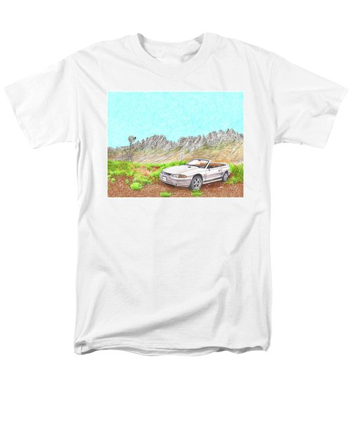 Men's T-Shirt  (Regular Fit) featuring the painting Organ Mountain Mustang by Jack Pumphrey