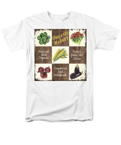 Organic Market Patch Men's T-Shirt  (Regular Fit) by Debbie DeWitt