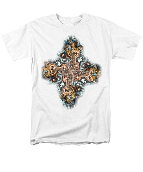 Ornate Cross Men's T-Shirt  (Regular Fit) by Anastasiya Malakhova