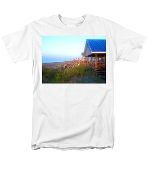 Men's T-Shirt  (Regular Fit) featuring the photograph Outerbanks Sunrise At The Beach by Sandi OReilly