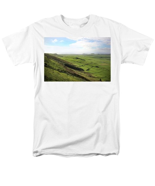 Over The Rim On Terceira Island, The Azores Men's T-Shirt  (Regular Fit) by Kelly Hazel