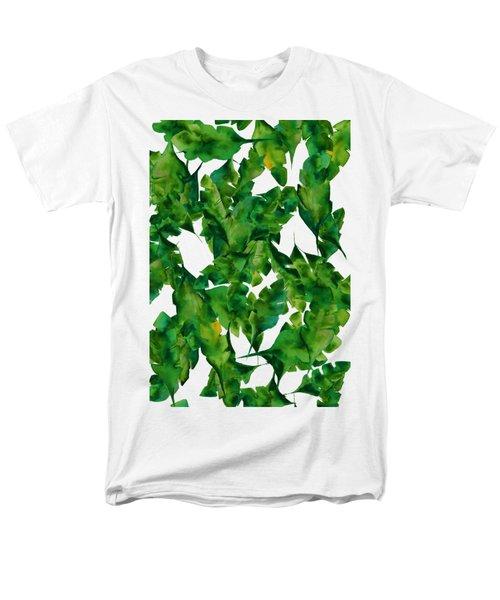 Overlapping Leaves Men's T-Shirt  (Regular Fit)
