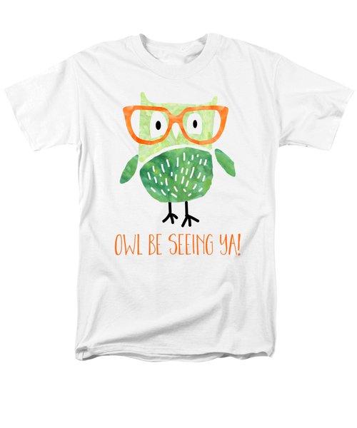 Owl Be Seeing Ya Men's T-Shirt  (Regular Fit) by Natalie Kinnear