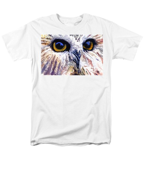 Owl Men's T-Shirt  (Regular Fit) by John D Benson
