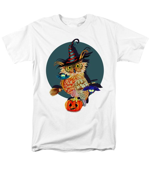 Owl Scary Men's T-Shirt  (Regular Fit) by Isabel Salvador